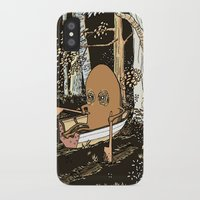 rowing iPhone & iPod Cases featuring Forest Rowing by Emily Joan Campbell