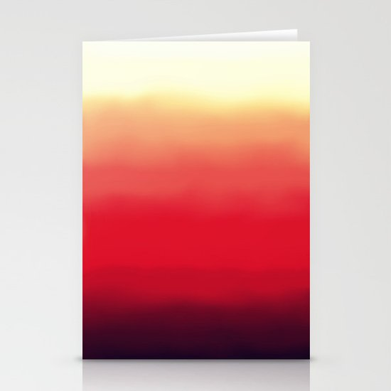 Ombré 2 red Stationery Cards