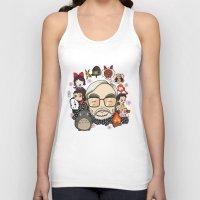 hayao miyazaki Tank Tops featuring Ghibli, Hayao Miyazaki and friends by KickPunch