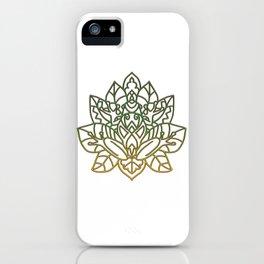 Frog Mandala iPhone Case