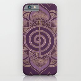 Reiki Cho Ku Rei - pastel and gold iPhone Case