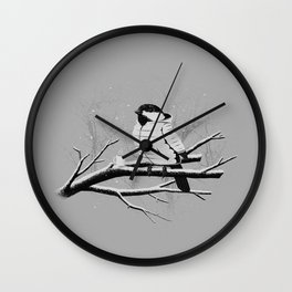 North For The Winter (Gray). Wall Clock