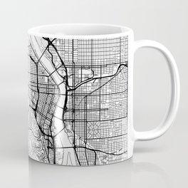 Portland Map White Coffee Mug