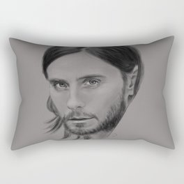 Jared Leto Digital Portrait grey LLFD Rectangular Pillow