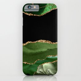Green Malachite Marble Agate Galaxy iPhone Case