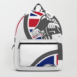 British Arborist Union Jack Flag Icon Backpack