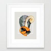 greek Framed Art Prints featuring Greek Bust by Heart of Hearts Designs