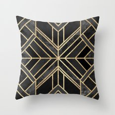 Geo Black Marble Dream Throw Pillow