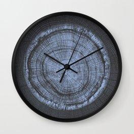 End Grain Wood Cut Wall Clock