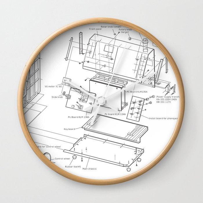 Korg Vc 10 Exploded Diagram Wall Clock By Jhaland Society6