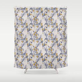 FRENCH LINEN THISTLE Shower Curtain