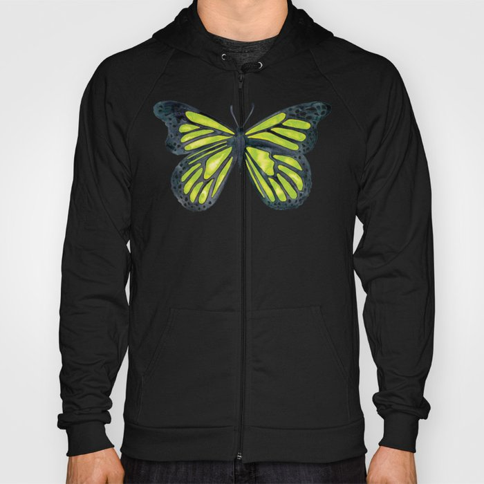 Lime Butterfly Hoody