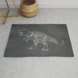 Tyrannosaurus, Rex Dinosaur (A.K.A. T REX) Butcher Meat Diagram Rug