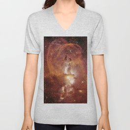 Star Clusters Space Exploration Unisex V-Neck