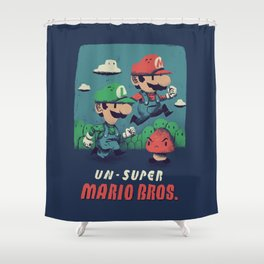 un-super bros Shower Curtain
