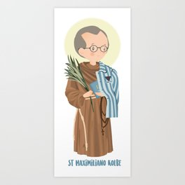 St Maximilian Kolbe Art Print