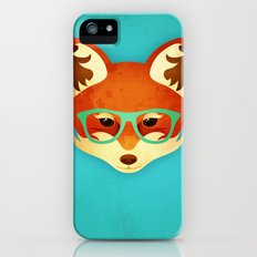 Hipster Fox: Azure iPhone (5, 5s) Slim Case