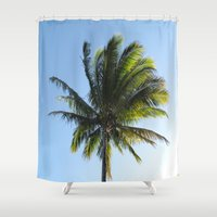 palm Shower Curtains featuring Palm by Percival