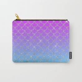 Gradient Mermaid Scales Carry-All Pouch