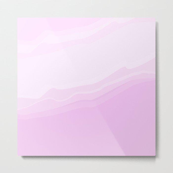 Souffle , lilac Metal Print