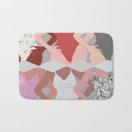 My Thighs Rub Together & I'm OK With That - Positive Body Image Digital Illustration Bath Mat