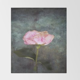 Wilted Rose III Throw Blanket