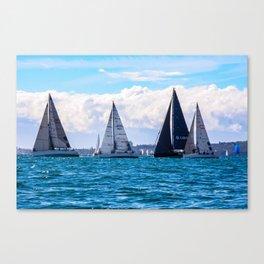 Yachting on Sydney Harbour. Sydney. Australia. Canvas Print