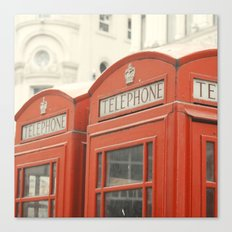 Telephone - London Photography Canvas Print