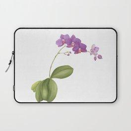 Flowering purple phalaenopsis orchid Laptop Sleeve