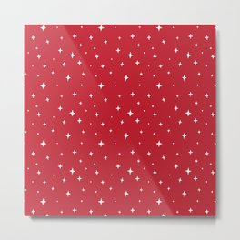 Zetta Stars Red Metal Print