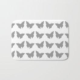Gray Bold Mod Butterflies Bath Mat