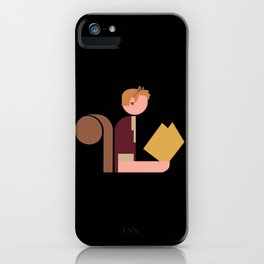 Squirrel Lady Reads iPhone Case
