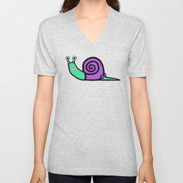 Smiley Girl Snail Unisex V-Neck