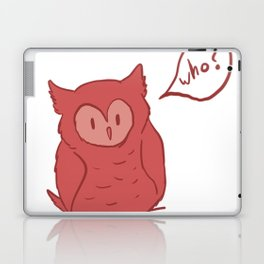 Fluffy Red Owl Laptop & iPad Skin