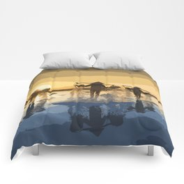 Salt Harvest in Abstract Art Comforters