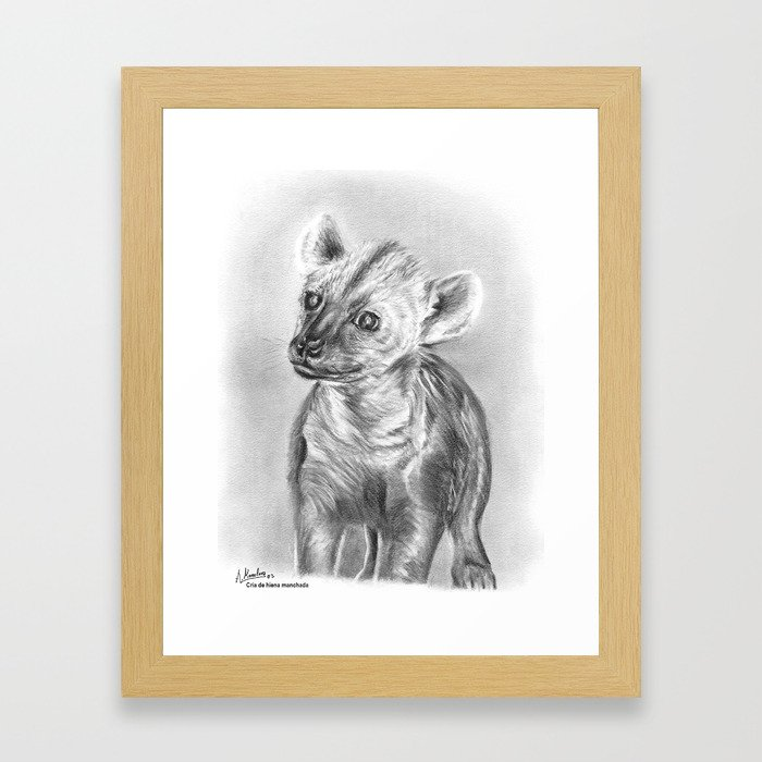 Cachorro de hiena Framed Art Print