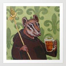 Chip Monk Beer Art Print