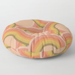Rollin' Retro Road in Peachy Keen Tetxtured Floor Pillow