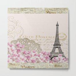 Ooh La La Parisian Eiffel Tower by Saletta Home Decor Metal Print