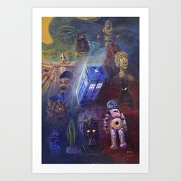 """""""13 in 50"""" a Tribute to Doctor Who Art Print"""