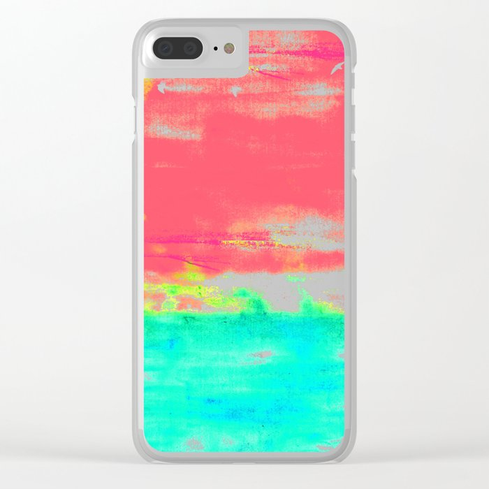 Magenta Sky Clear iPhone Case