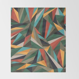 Sliced Fragments II Throw Blanket