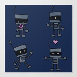 Robot Doodles Canvas Print