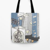 flight Tote Bags featuring flight by Madmi