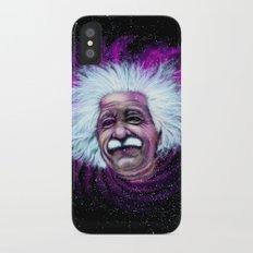 Albert Einstein Nebula iPhone X Slim Case