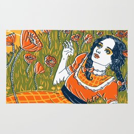 Dorothy in the Poppy Field Rug