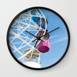 Ferris Wheel in Barcelona Wall Clock