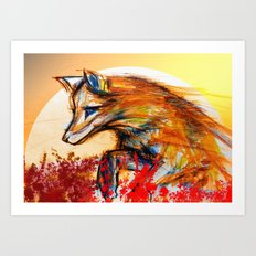 Fox in Sunset II Art Print