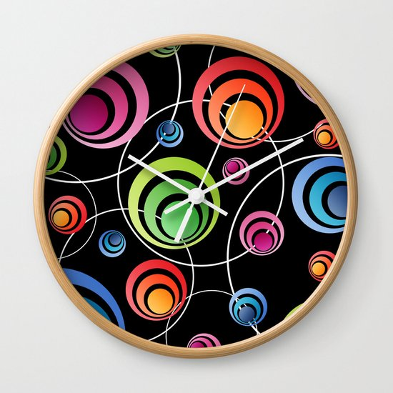 Circles In Circles. Wall Clock