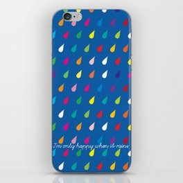 Happy Rain iPhone Skin